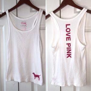 Victoria's Secret Pink Ribbed Tank -M